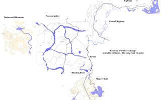 The Long Dark карта местности и всех локаций